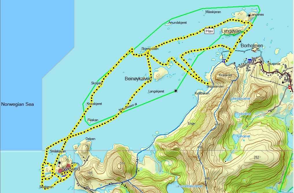 nyksund kart Padlemia: Stø Nyksund Stø nyksund kart