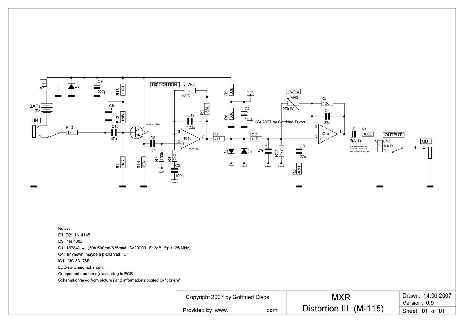 Wiring Diagram Guitar Pedal For Alternator To Battery Construye Tus Pedales Construccion De Dunlop Mxr