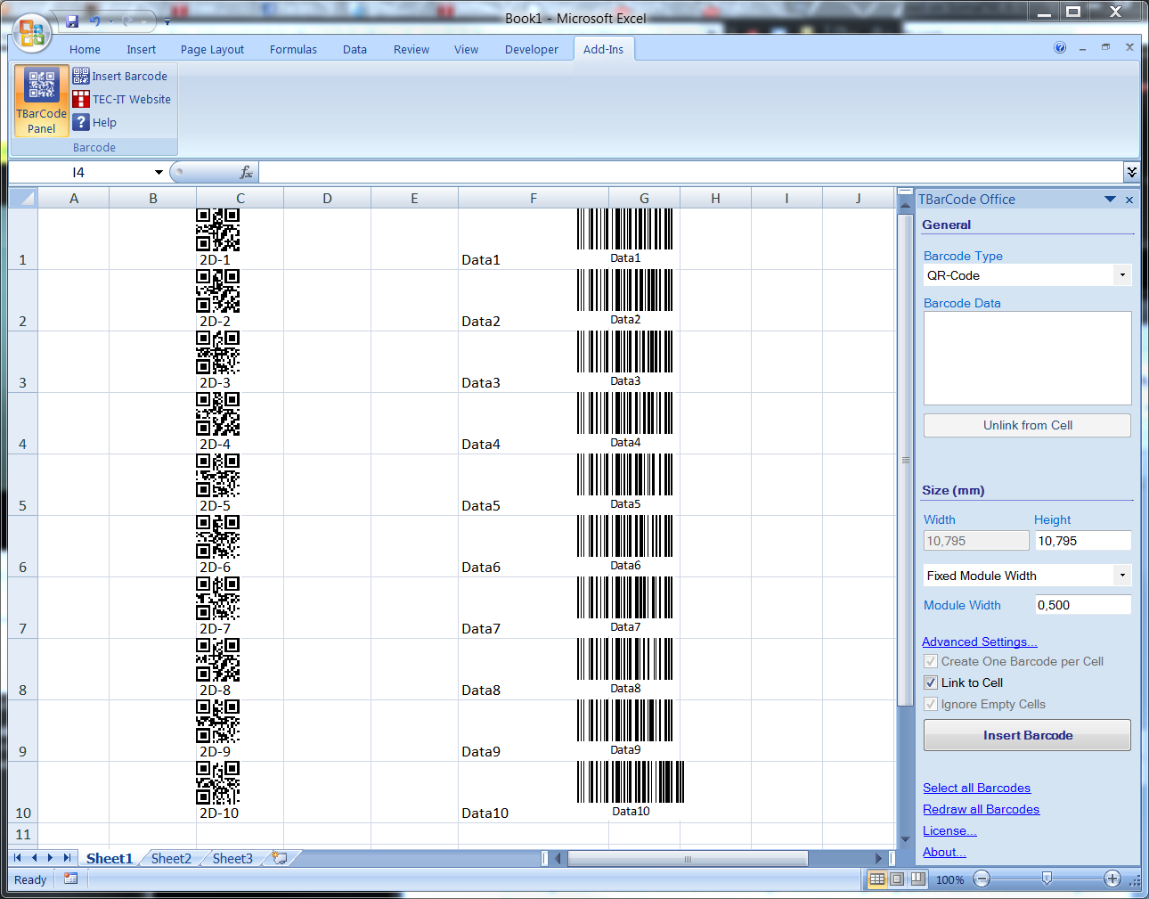 How To Create Barcode In Microsoft Excel