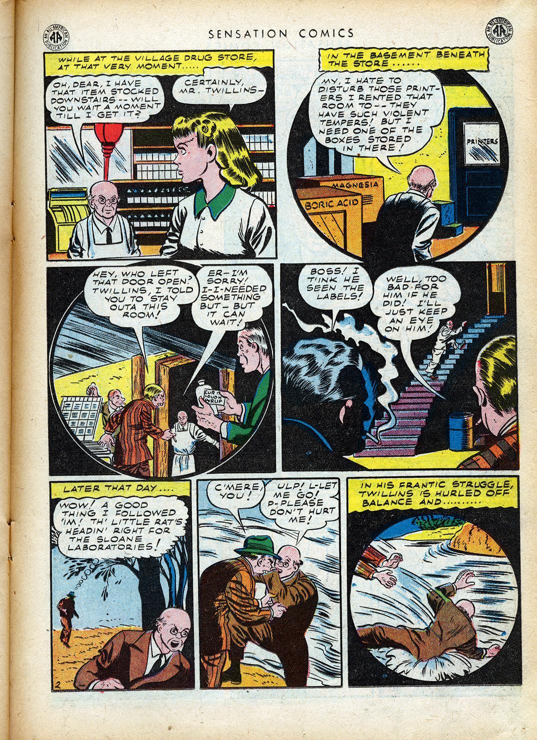 Read online Sensation (Mystery) Comics comic -  Issue #40 - 33