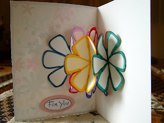 seven flower pop up card