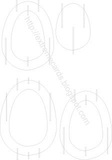 sliceform egg template