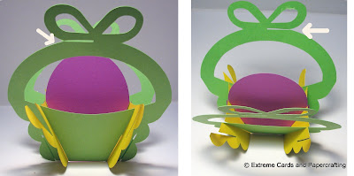 tulip sliceform basket assembly