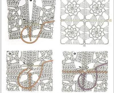 Como unir piezas de tejidos en crochet y dos agujas  cositasconmesh