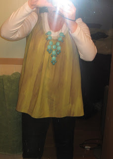J.Crew Bubble Necklace, Vera Wang Blouse and Skinny Jeans @ Chasing Davies
