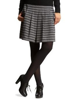 Grey striped skirt from Gap