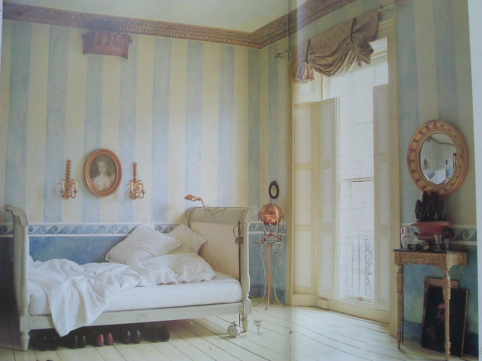 Gustavian Chic : Le pareti a righe.