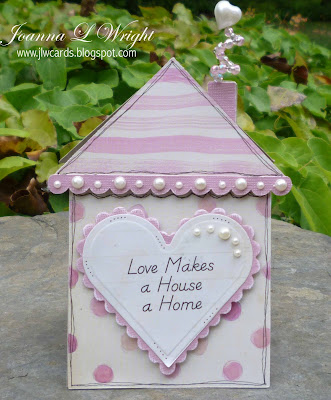 I Love 2 Cut Paper House Shaped Card
