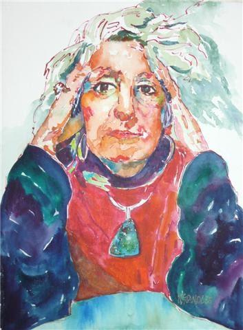 Willie Nelson Net Worth >> Nancy Standlee Fine Art: Watercolor Self Portrait ~ Nancy