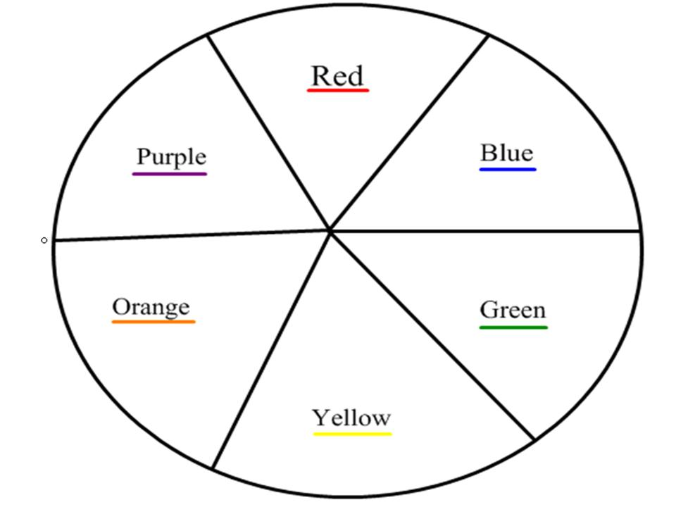 Free coloring pages of 6 color wheel