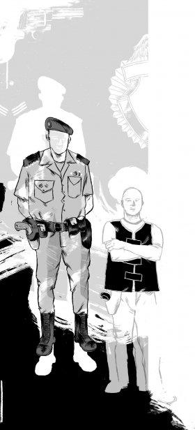 Resultado de imagem para Um policial tem que correr dez quilômetros por ruas escuras, subir paredes, pular muros, entrar em matagais, invadir casas que n
