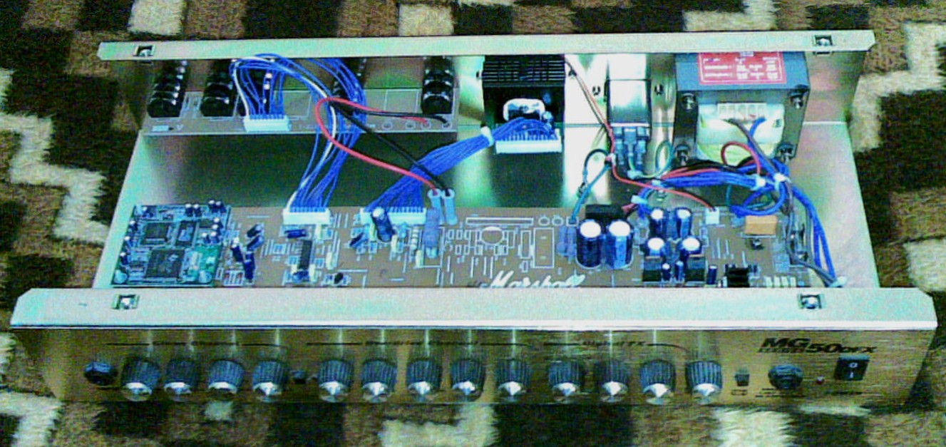 The MG circuit: the circuit of an Mg amp is pretty basic and it's all  designed using operational amplifiers. Moreover, the preamp structure is  exactly the ...