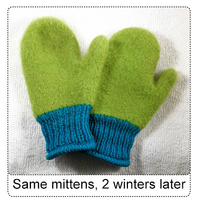 same mittens, 2 yrs later