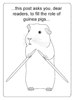be my guinea pig?