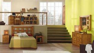 Dormitorio completo rustico