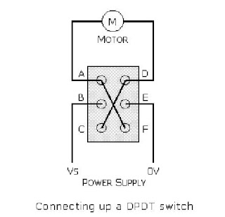 dpdt switch wired to motor
