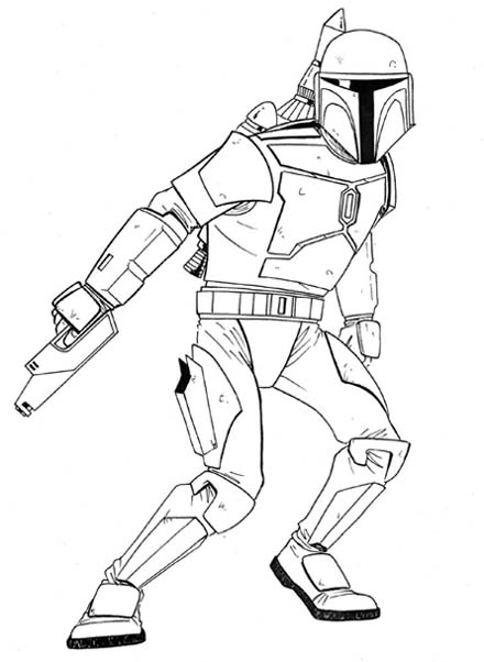 lego boba fett colouring pages page 2