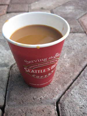 Subway Seattle's Best Coffee without lid