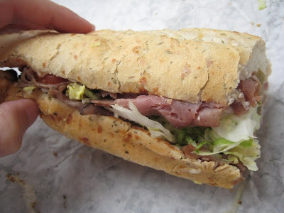 The Beef and Cheddar Sub from Quiznos