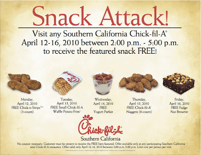 Chick-fil-A Southern California Snack Attack! Giveaway