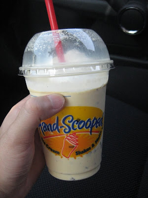 Carl's Jr's Banana Chocolate Chip Ice Cream Shake
