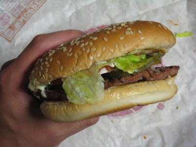 Burger King Whopper - side view