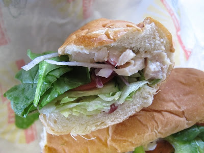 Subway Orchard Chicken Salad Sub close up