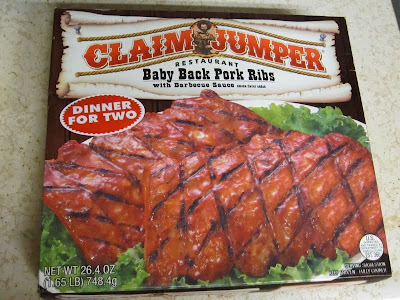 Claim Jumper Baby Back Pork Ribs box