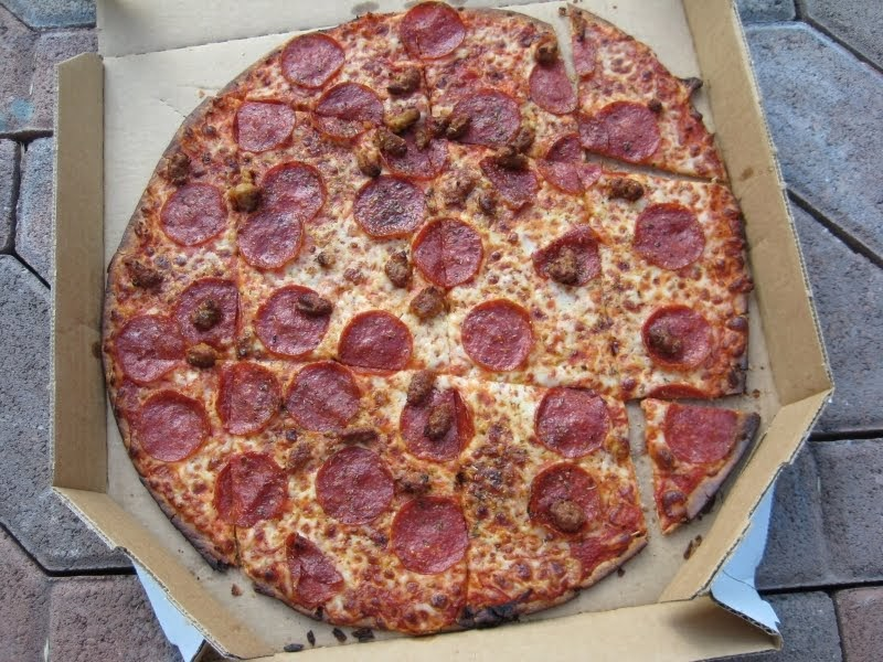 Review Domino S Thin Crust Pizza Brand Eating
