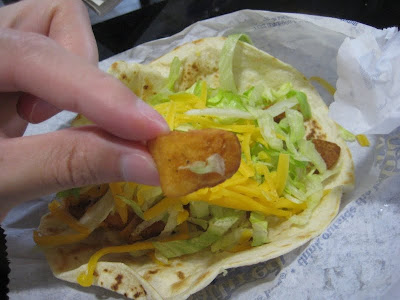 Taco Bell Crispy Potato Soft Taco inside
