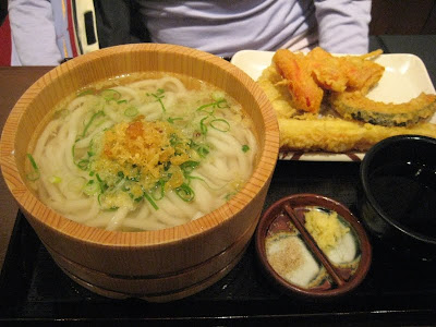 Udon in a nifty wooden tub