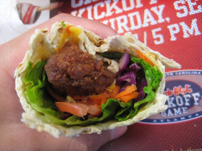 Chick-fil-A Cool Wrap with Chicken Nugget inside