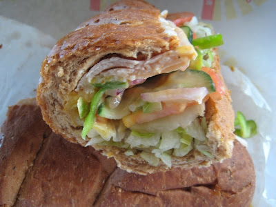 Subway Turkey Jalapeno Melt cross section