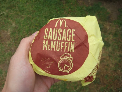 McDonald's Sausage McMuffin in wrapper