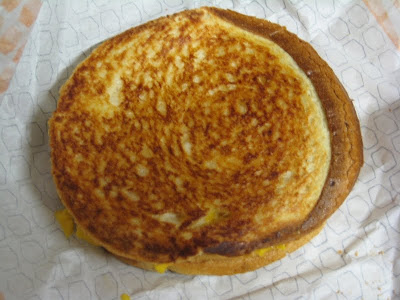 Jack in the Box Grilled Cheese top view