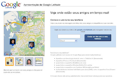 como localizar um celular pelo google latitude