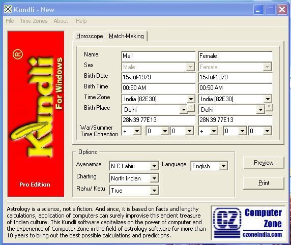 Kundli Software – Free Online Kundali Making Software by Date of Birth and Time