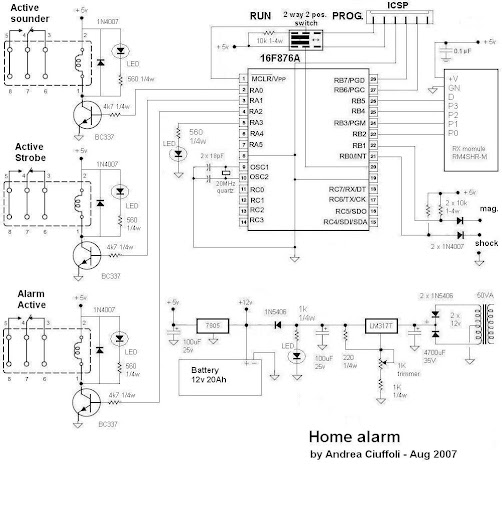 အီလက္ထေရာနစ္ နည္းပညာ: Simple Home Alarm System