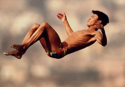 Barcelona 1992 - Sun Shuwei, campeón en salto de plataforma