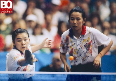 Barcelona 1992 - Deng Yaping y Qiao Hong, campeonas de dobles en tenis de mesa