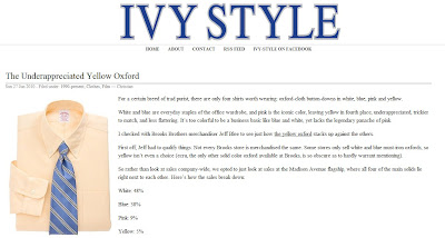 In Response: The Under-Appreciated Yellow Oxford (@ Ivy Style)