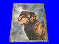 chocolate lab blanket throw tapestry