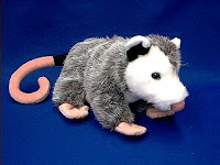 opossum plush stuffed animal