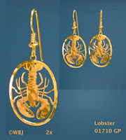 lobster earrings gold jewelry usa