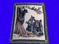black bear blanket throw tapestry