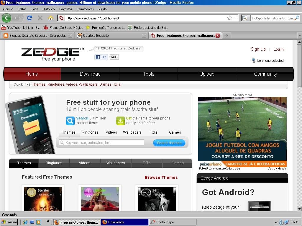 Quarteto Esquisito: Zedge - Melhor site para baixar arquivos