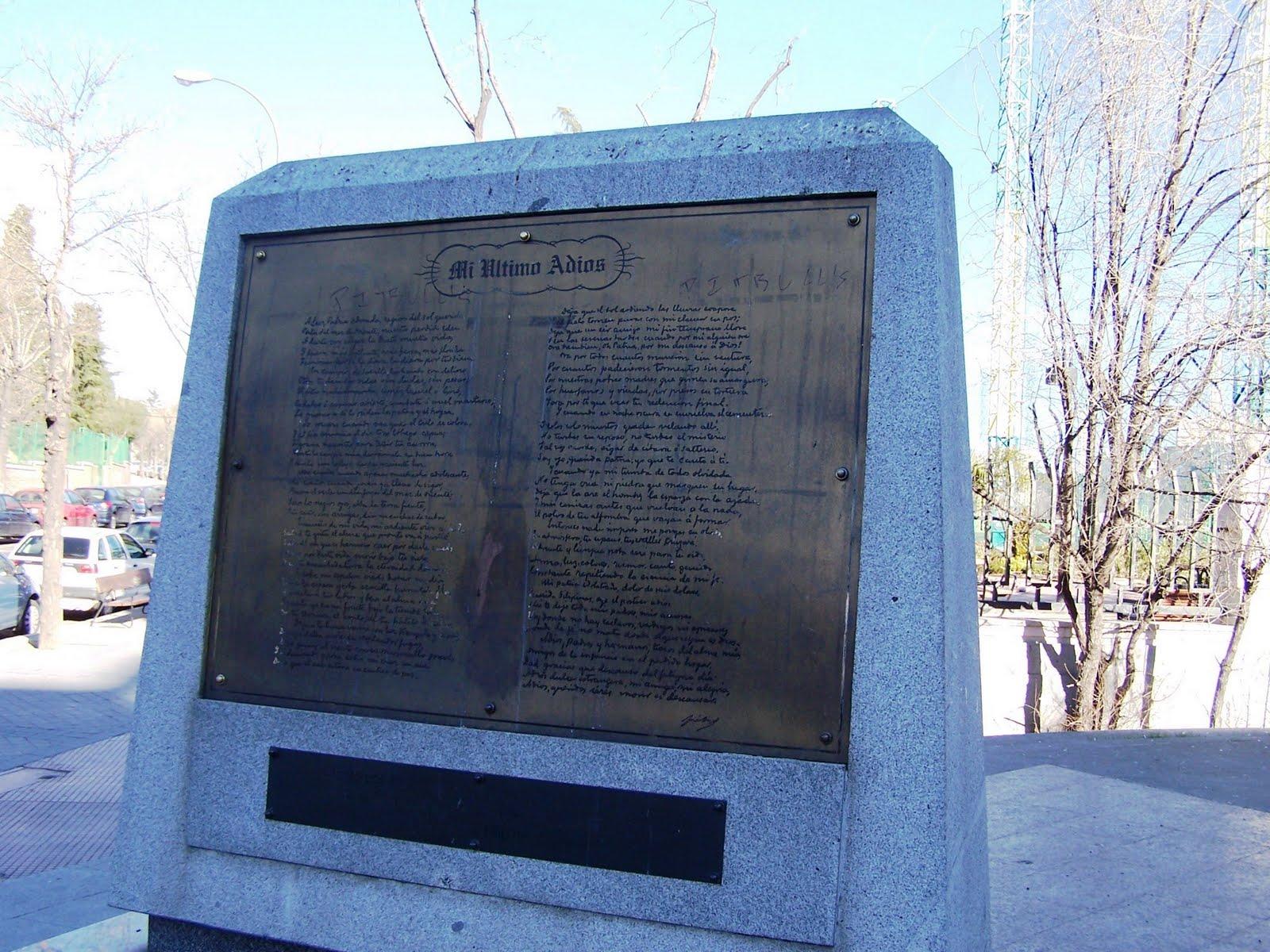 Jose Rizal Monument, Avenida De Filipinas, Madrid, Espana