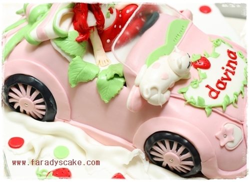Strawberry Shortcake Themed Cake