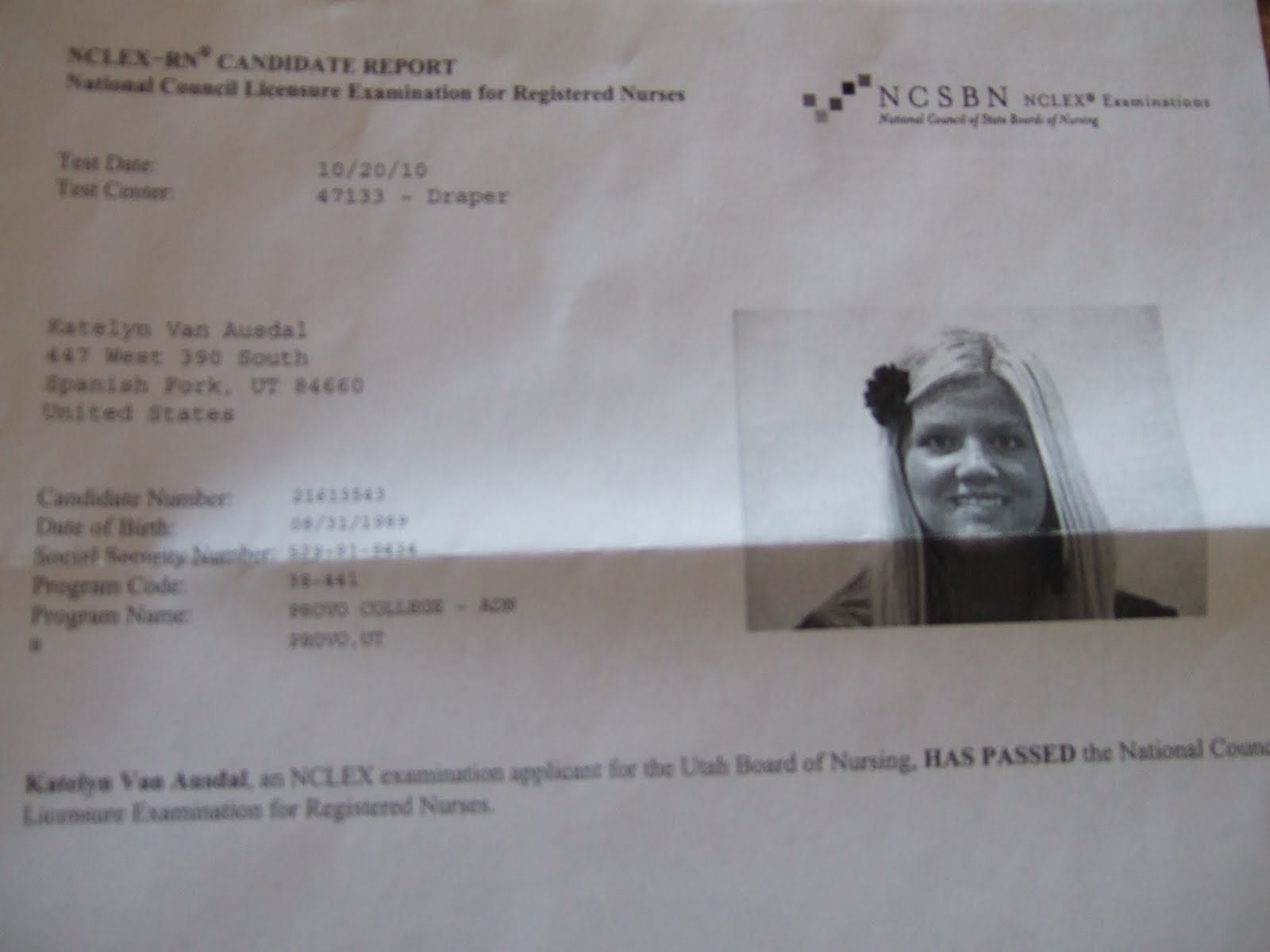 The Van Ausdal S Registered Nurse Finally