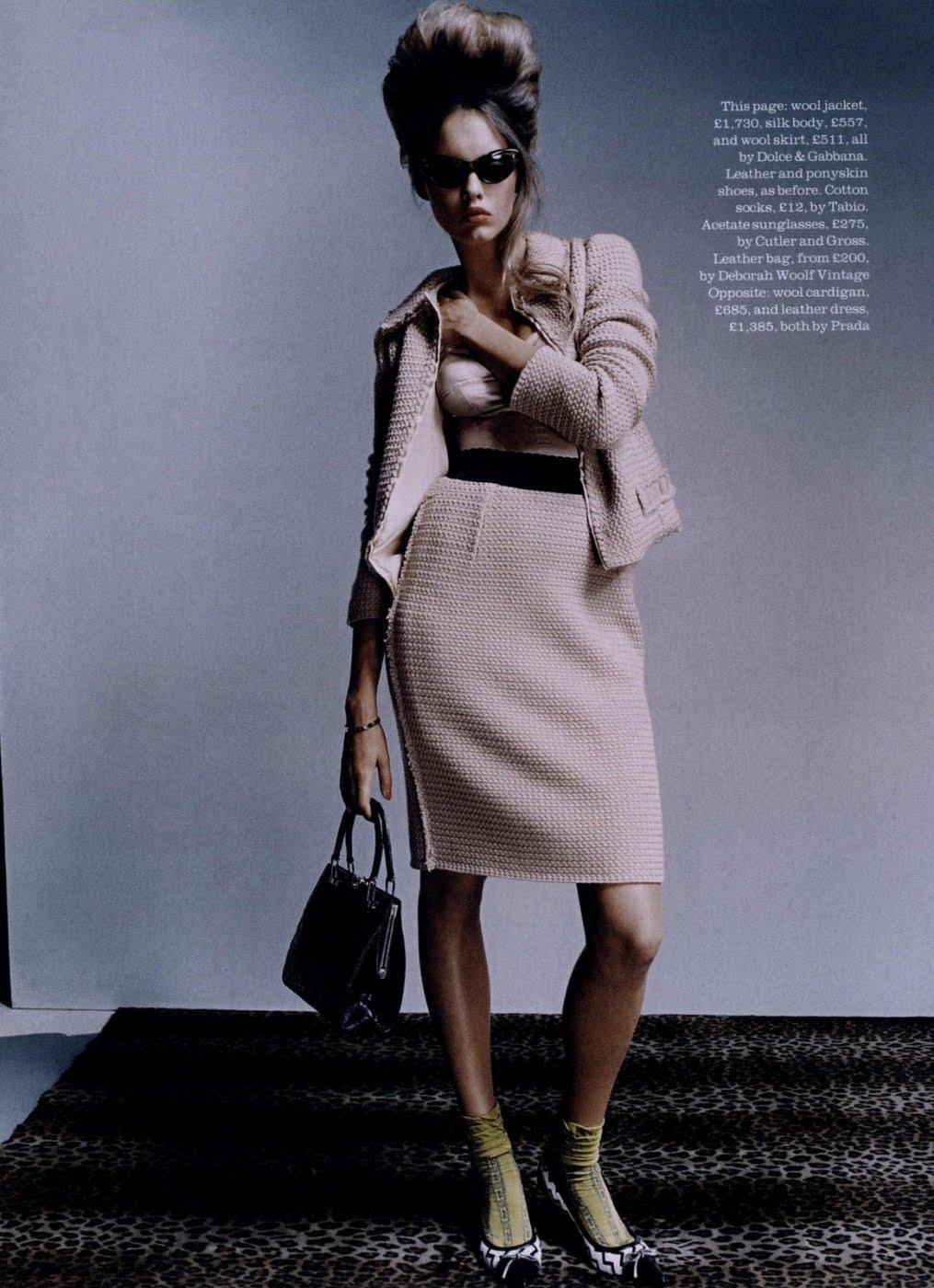 a880da40c1ba Alana Kuznetsova by David Slijper for Elle UK September 2010
